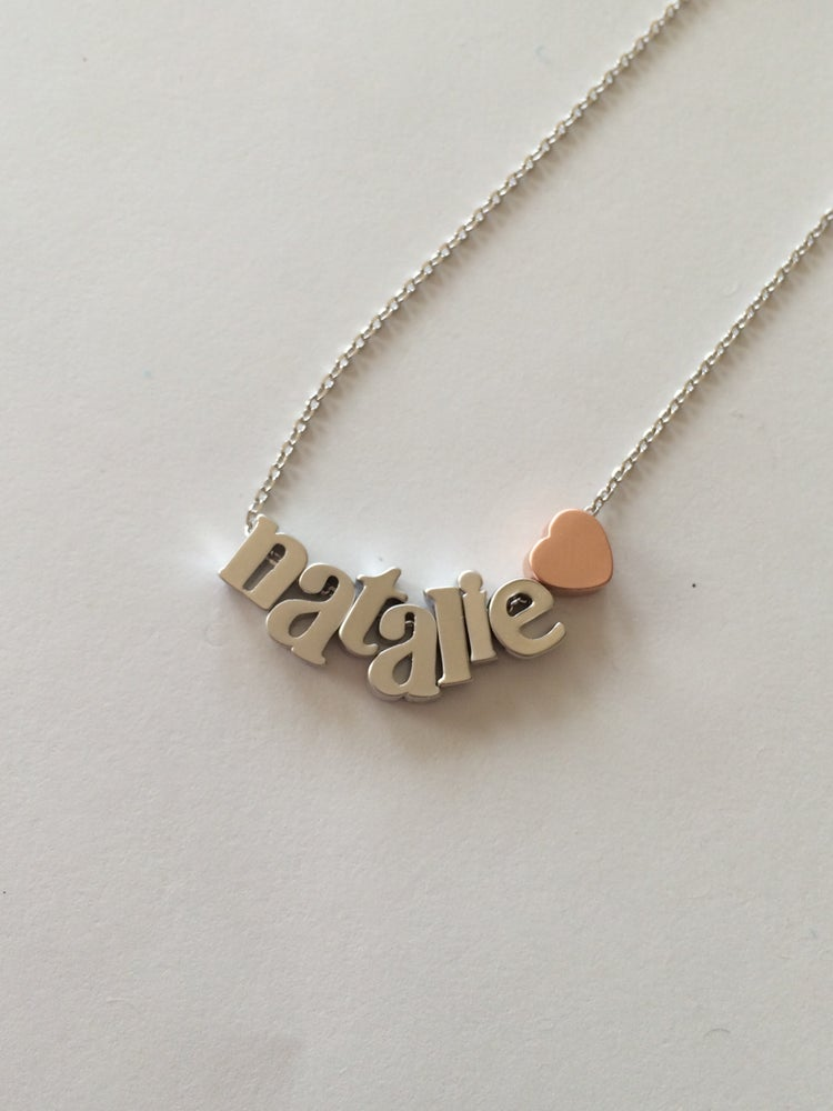 Image of Lower Case Create your own necklace