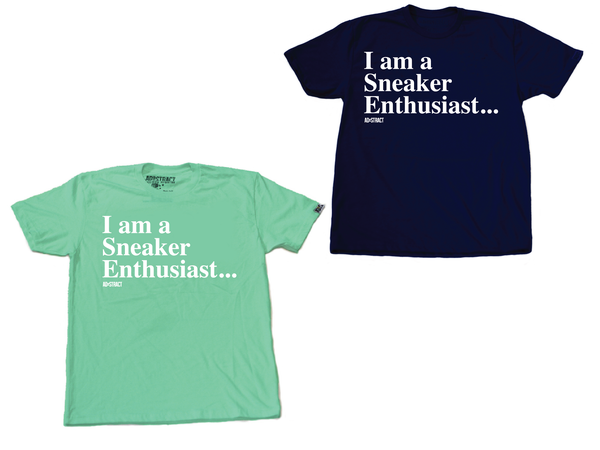 "Image of SNEAKER ENTHUSIAST ""NAVY OR MINT"" TSHIRT"