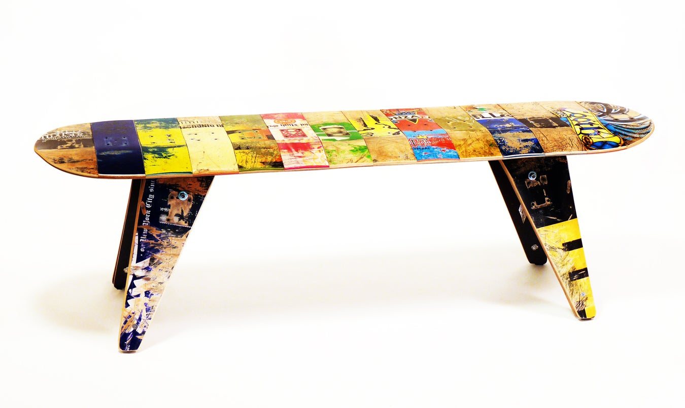 recycled skateboard furniture and gifts 60 three seater