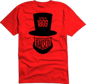 "Image of KY Raised ""Legend Series"" A.B.E. Tee in Red & Black"