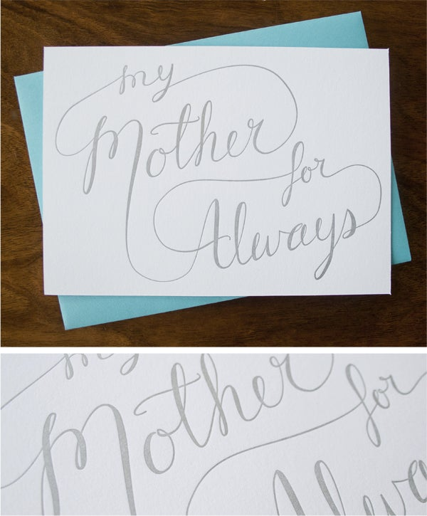 Image of My Mother For Always - 5x7 Print/Flat Card