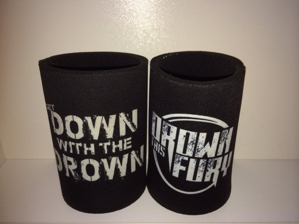 "Image of ""Get down with the drown"" stubby holder"