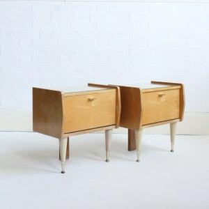 Image of Vintage Bedside Tables (pair)