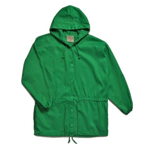 Image of UNLINED COTTON HOODED SMOCK JACKET