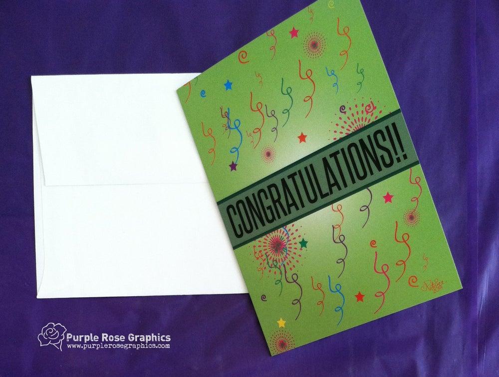 Image of Confetti Congratulations Card