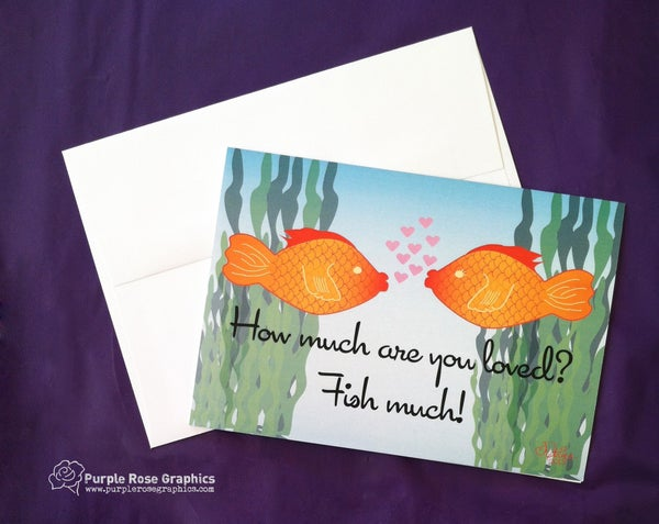 Image of I Love You Fish Much Note Card