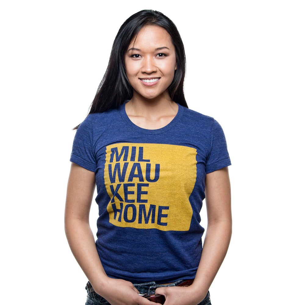 Image of WOMEN'S GOLD ON NAVY