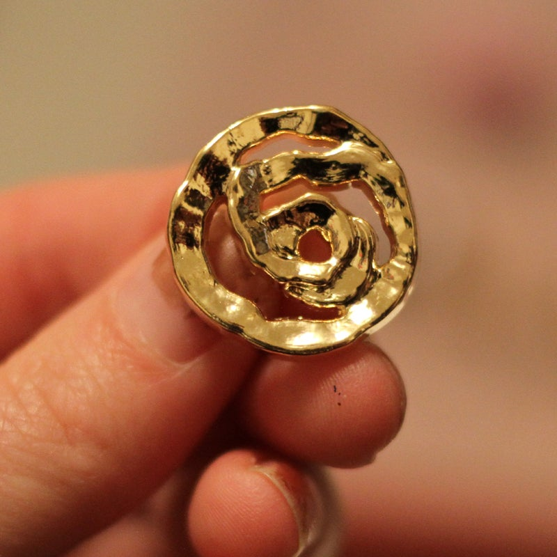 Image of Gold Abstract Rose Plugs (sizes 0g-3/4)
