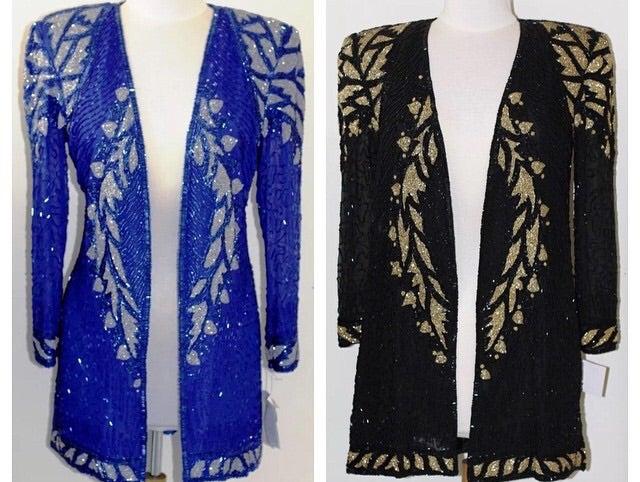 Image of Silk Beaded Dress
