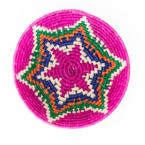 Technicolor Woven Bowl - Pink