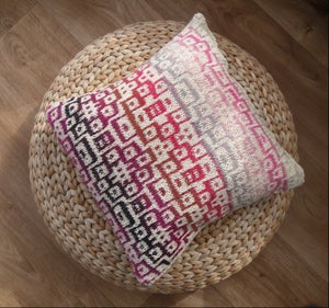 "Image of Summer Cushion cover with abstract mosaic pattern - 18"" x 18"" zip fastening"