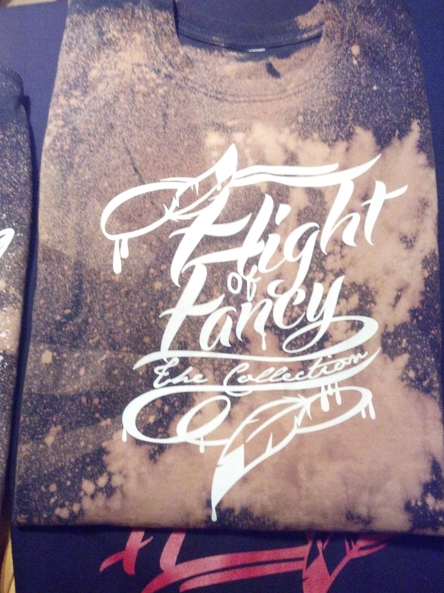 Image of Flight Of Fancy Logo Script Bleached shirt