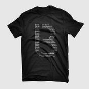 Image of Limited Edition Bedrock Title T Shirts in Mens/Womens in Black