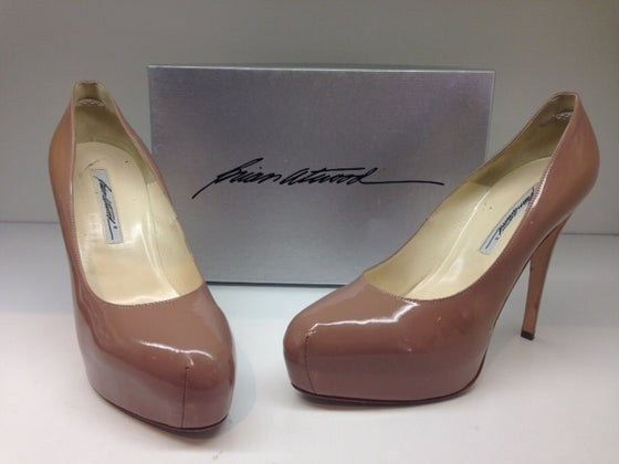 "Image of Brian Atwood ""Maniac"" Patent Platform Pumps"