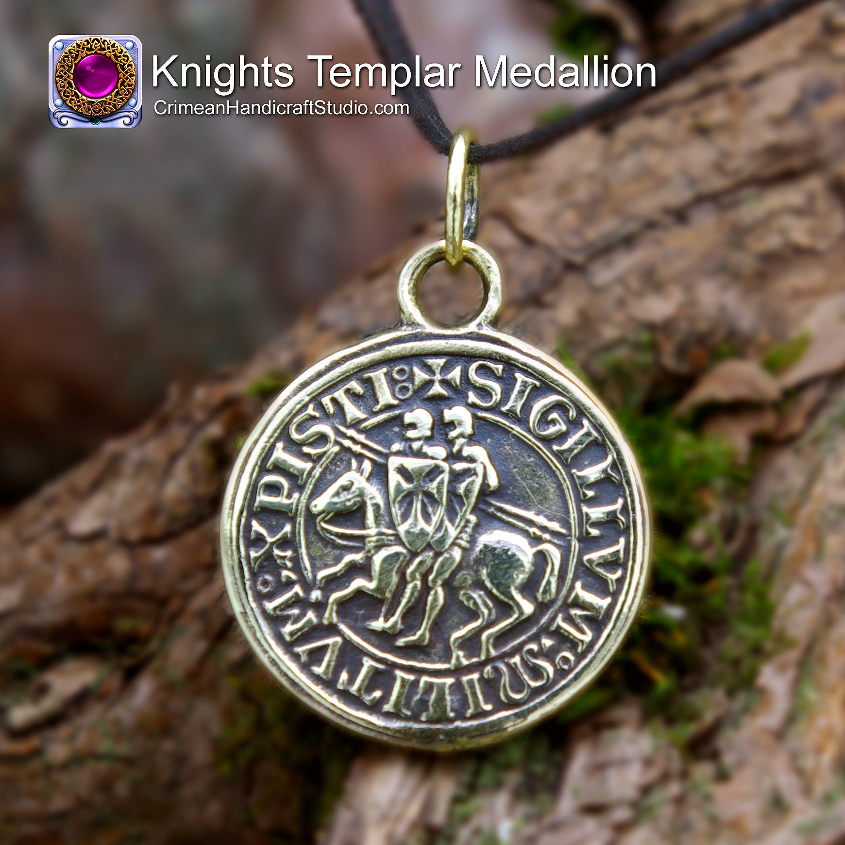 c h studio knights templar medallion