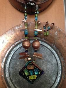 Image of Dichroic and Czech glass set