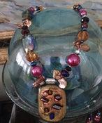 Image of Dichroic glass, Czech and Swarowski crystal set