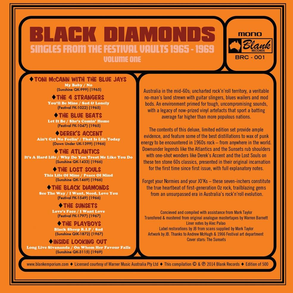 Image of Black Diamonds : Singles From The Festival Vault 1965 - 1969 Volume One (10 x 45 BOX SET)