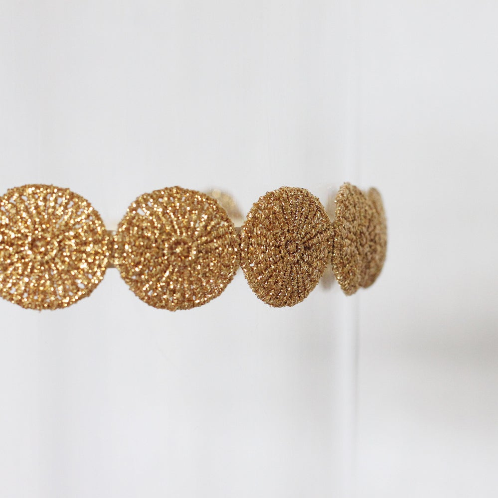 Image of Blake Gold Lace Headband