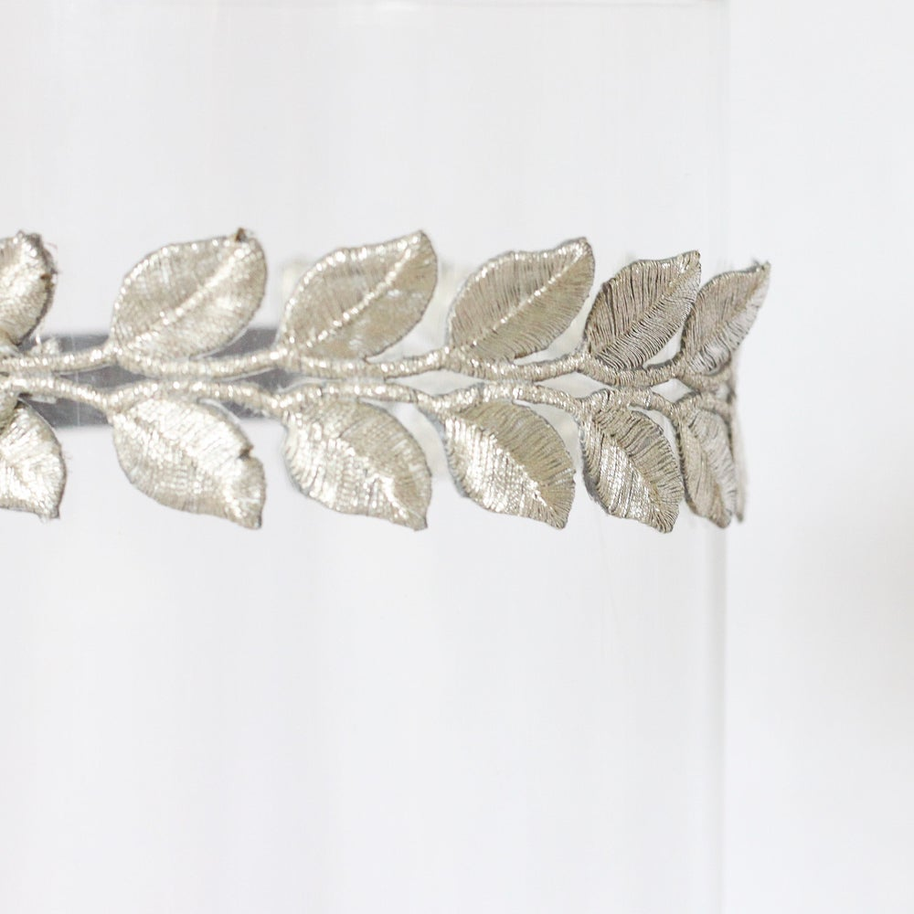 Image of The Laurel Lace Silver Leaf Headband Adult