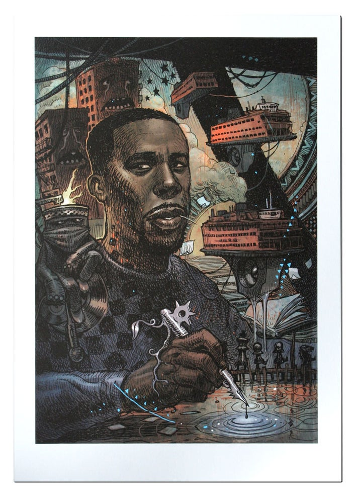 Image of GZA - Lithograph Print