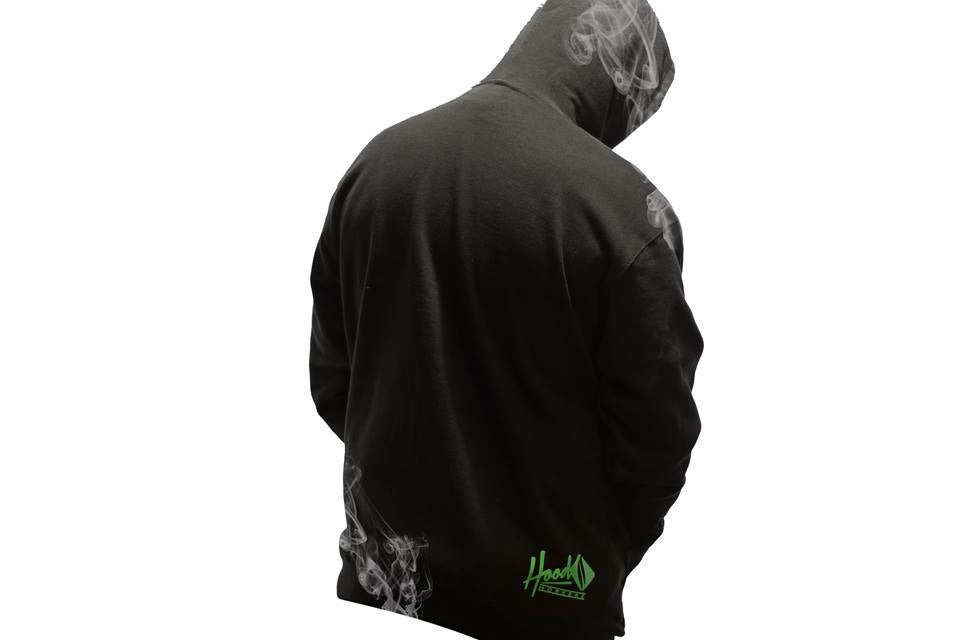Image of Smokable Hoodie Green Shield Logo