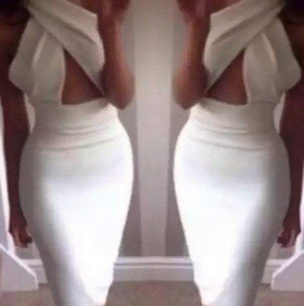 Image of BACK SEXY BACKLESS CULTIVATE ONE'S MORALITY DRESS
