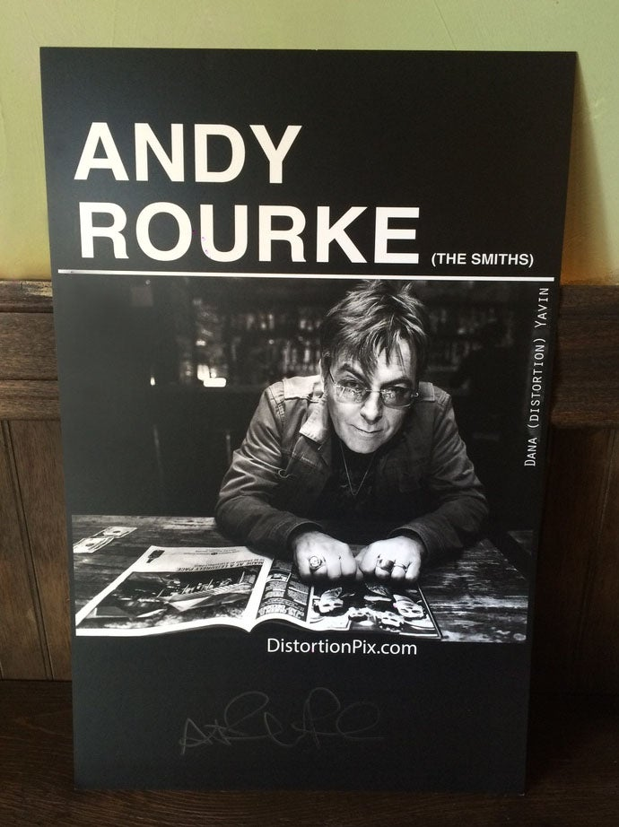 Image of Andy Rourke Autographed 11x17 Poster by Photographer Dana Distortion