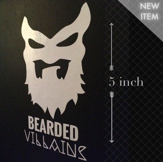 Image of Bearded Villain Window Sticker