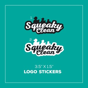 Image of Squeakyclean Logo Sticker