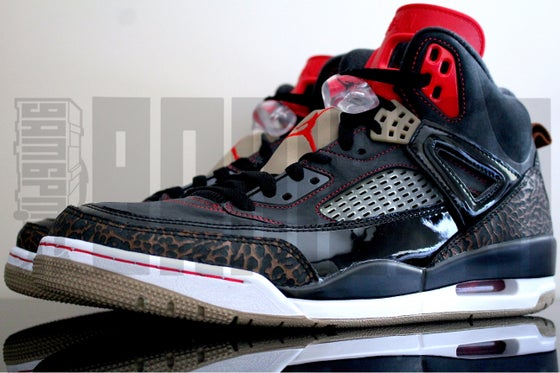 "Image of Nike JORDAN SPIZIKE ""BLACK/CHALLENGE RED"""