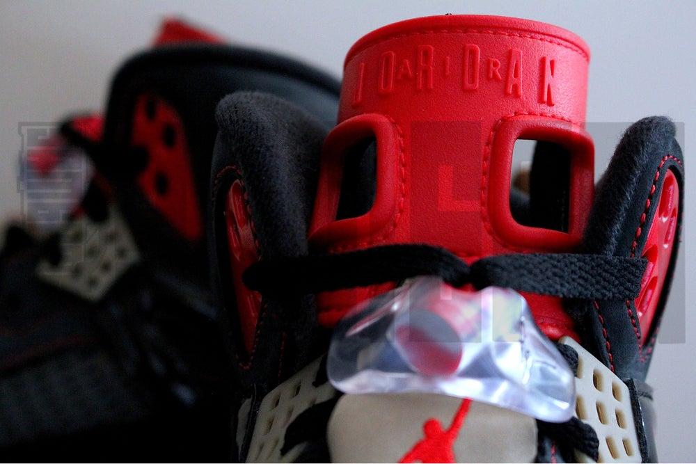 "Image of Nike JORDAN SPIZIKE ""BLACK/CHALLENGE RED"""