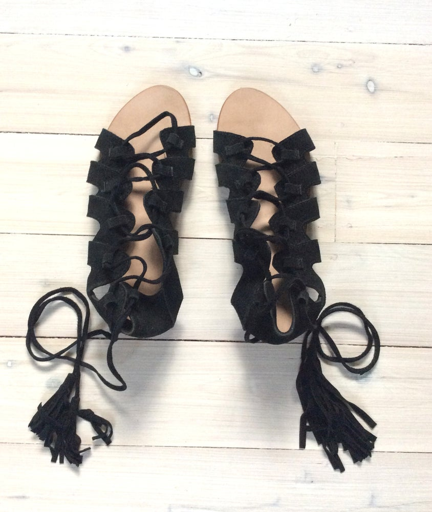 Image of KLF Suede Dancing Sandal Black