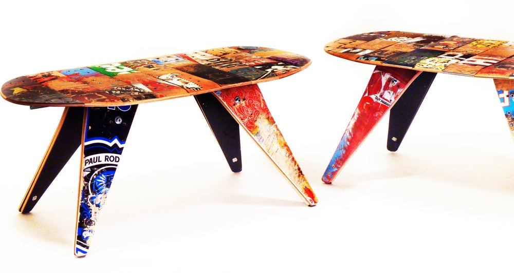 Image of Recycled Skateboard Coffee Table by Deckstool