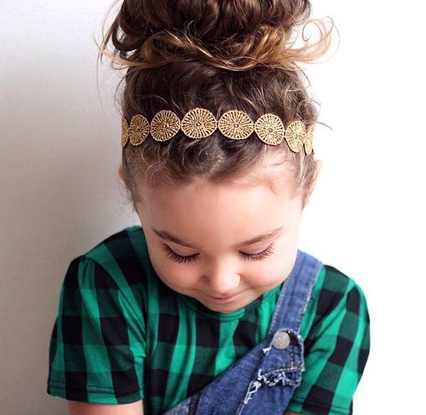 Image of Blake Gold Lace Headband