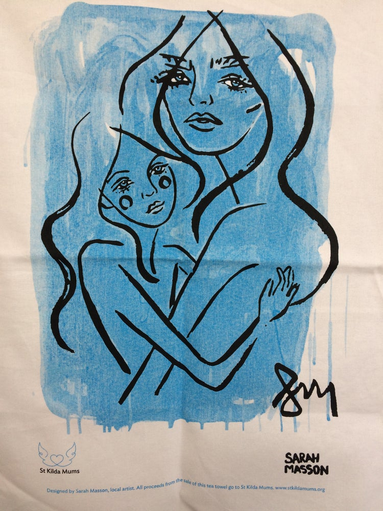 """Image of Tea Towel 'Mother and child"""""""