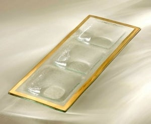 Image of Gold Band Three Section Tray- SOLD