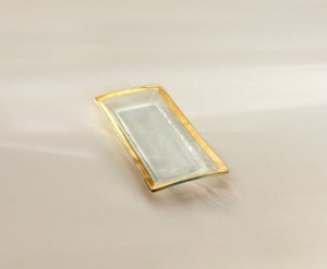Image of Annieglass Gold Band Appetizer Tray