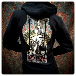 "Image of ""Feathered Serpent"" Cotton Fleece Blend Hoody"