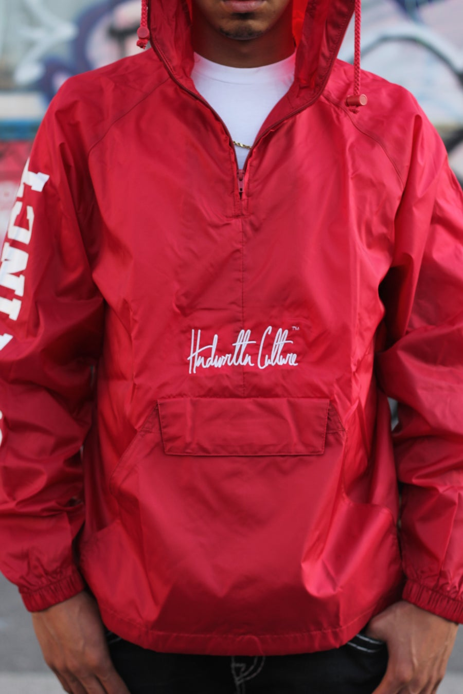 Image of Red Distinct Player Windbreaker