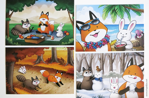 Image of 4-Seasons Postcard Set
