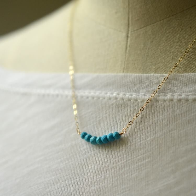 Image of Turquoise curve necklace