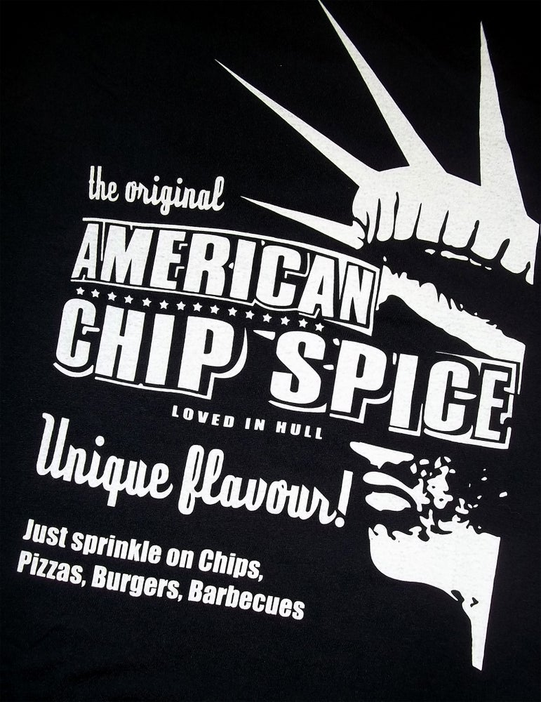Image of Hull Loves Chip Spice Black Unisex T-Shirt