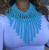 Image of Easter Blue Bubble Necklace