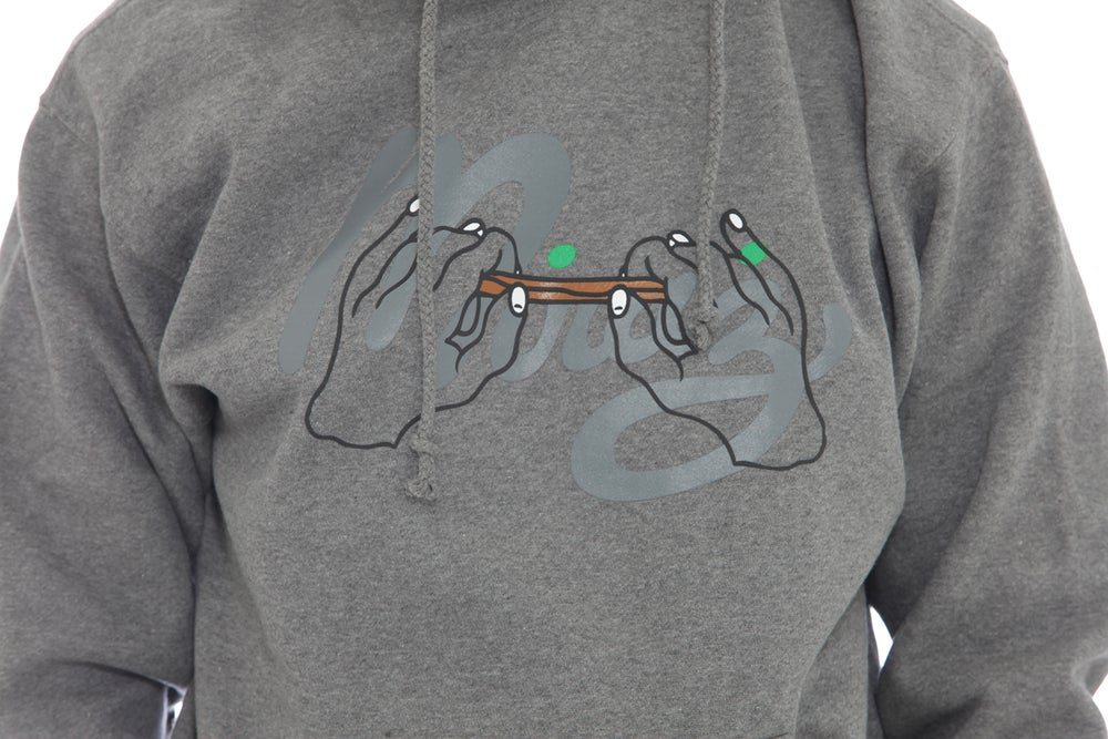 Image of Blunt Hands Hoodie Grey