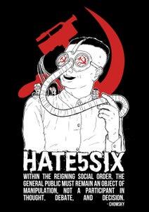 Image of [17x24 poster] hate5six - anti mass media
