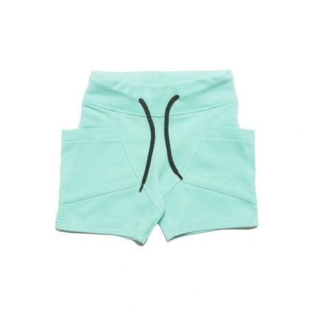 Image of SS15 <> Short bermuda bébé garçon Gugguu « College Shorts» menthe <> 98cm-140cm