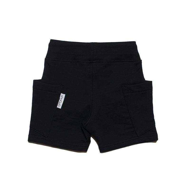 Image of SS15 <> Short bermuda bébé garçon Gugguu « College Shorts» noir