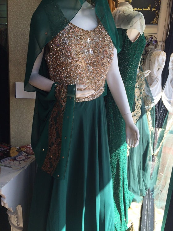 Image of Sparkling Beauty Dress - Green