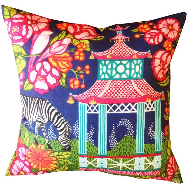 Image of Chinoiserie Garden Pink Pillow Cover